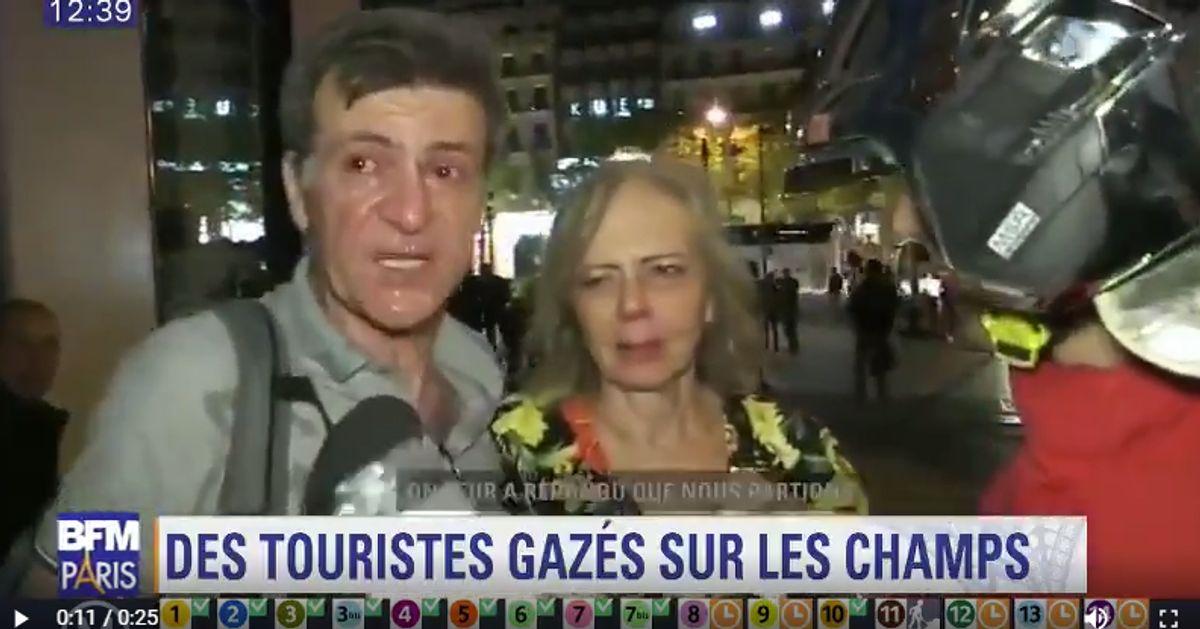 Des touristes gazés sur les Champs-Élysées en marge des violences