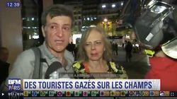 Des touristes gazés sur les Champs-Élysées en marge des