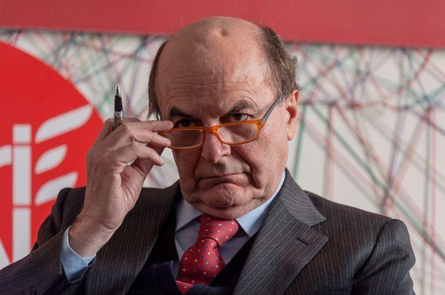 ROME, ITALY - FEBRUARY 15: Pier Luigi Bersani of 'Liberi e Uguali' left-wing political party, takes part...