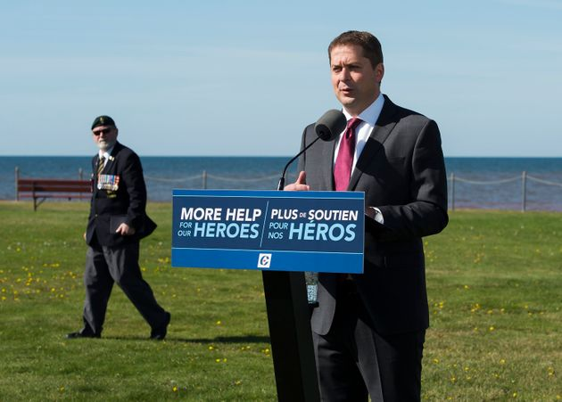 Andrew Scheer makes a campaign stop in Canoe Cove, P.E.I. on