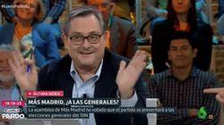 Marhuenda provoca carcajadas en 'Liarla Pardo' con su reacción a la decisión del partido de