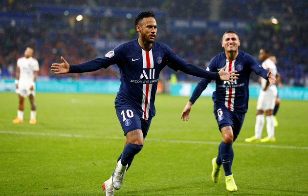 Neymar célèbre son but face à Lyon le 22 septembre