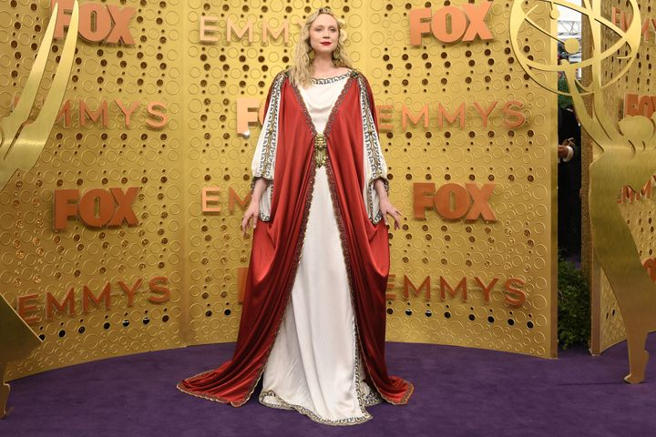 English actress Gwendoline Christie arrives for the 71st Emmy Awards at the Microsoft Theatre in Los Angeles on Sept. 22, 201