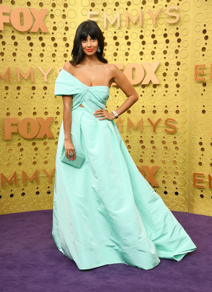 LOS ANGELES, CALIFORNIA - SEPTEMBER 22:   Jameela Jamil attends the 71st Emmy Awards at Microsoft Theater on September 22, 2019 in Los Angeles, California.  (Photo by Kevin Mazur/Getty Images)