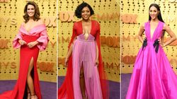 Stars Turned The Red Carpet Hot Pink At The Emmy Awards