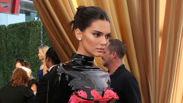 Kendall Jenner arrives at the 71st Primetime Emmy Awards on Sunday, Sept. 22, 2019, at the Microsoft Theater in Los Angeles. (Photo by J.Emilio Flores/Invision for FIJI/AP Images)