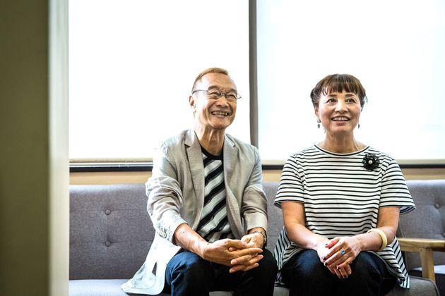 シティーハンターの魅力を語る神谷明さん(左)と伊倉一恵さん(右)