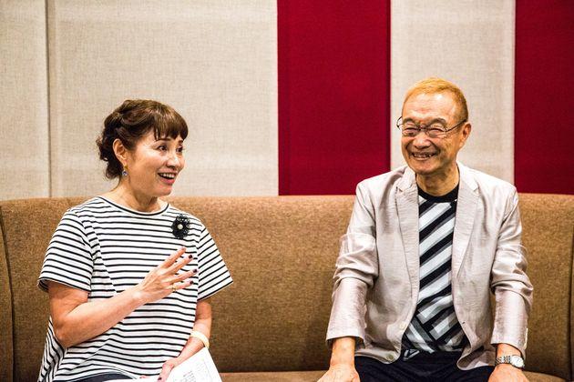 シティーハンターのこれまでについて振り返る伊倉一恵さん(左)と神谷明さん(右)