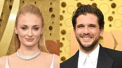 Sophie Turner And Kit Harington Hugging At The Emmys Has Everybody In Their