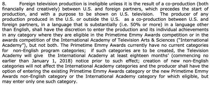 Emmy Awards rules