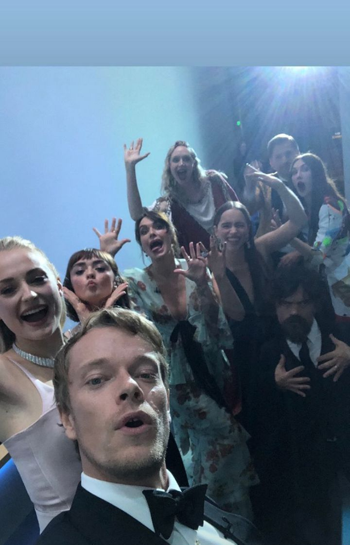 "The ""Game of Thrones"" cast on Alfie Allen's Instagram."