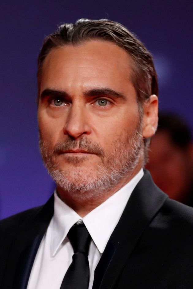Joaquin Phoenix poses at the premiere of
