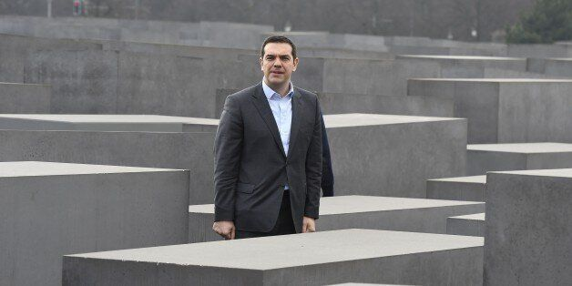 Greek Prime Minister Alexis Tsipras visits the Memorial to the Murdered Jews of Europe aka Holocaust...