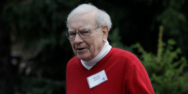Billionaire investor Warren Buffet at the Allen & Company Sun Valley Conference in Sun Valley, Idaho,...