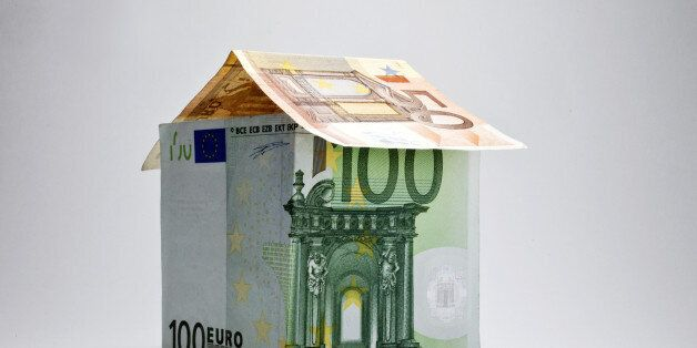 House made of banknotes, symbolic