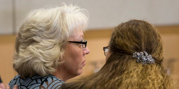 Debra Milke, left, sits in court with her attorney, Lori Voepel during a hearing, Monday, March 23, 2015,...