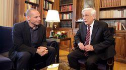 Τον Πρόεδρο της Δημοκρατίας ενημέρωσε ο Γιάνης Βαρουφάκης για τα θέματα της ελληνικής