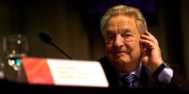Global financier George Soros during the 2nd European Roma Summit in Cordoba, Spain Thursday April 8,...