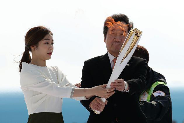 김연아, 도종환 전 문화체육관광부
