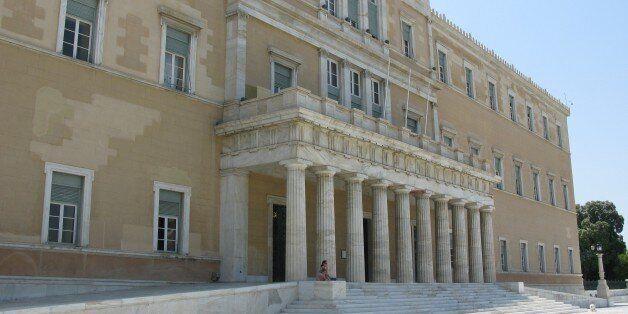 Athens, Greece.---Το κÏήριο Ïης Βουλής Ïων