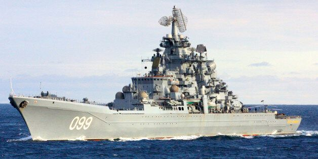 ** FILE ** The Pyotr Velikiy, Peter the Great, Russian nuclear-powered missile cruiser seen in the Barents...