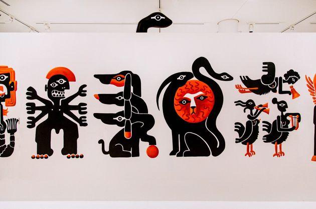 Βeetroot: Το γραφείο design που ζωγράφισε «ελληνικά τέρατα» μέσα στο Νομισματοκοπείο του