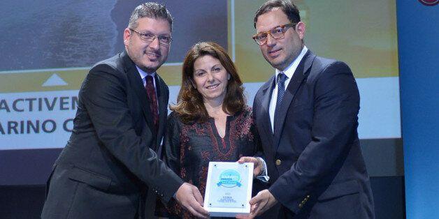 Από αριστερά: Άκης Τσόλης, Διευθύνων Σύμβουλος Active Media Group, Μάγια Τσόκλη, Peter Poulos, Σύμβουλος, Διοργανωτής «Navarino Challenge»