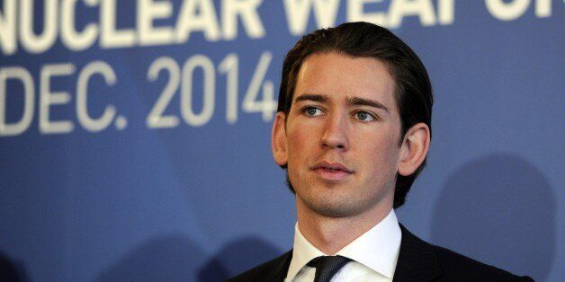 Austria's Minister for Foreign Affairs and Integration Sebastian