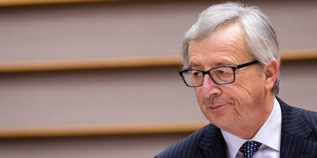 European Commission President Jean-Claude Juncker talks during a plenary session at the European Parliament...