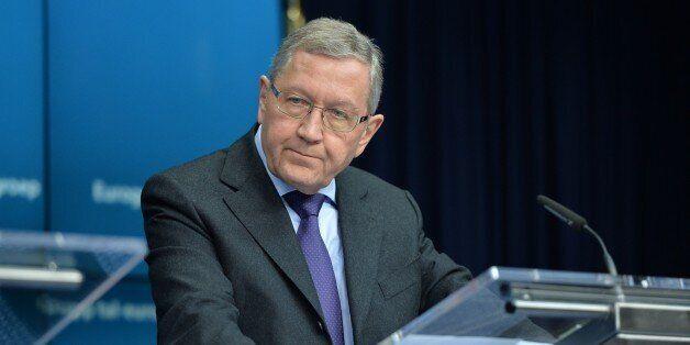 BRUSSELS, BELGIUM - FEBRUARY 20: Klaus Regling, managing director of the European Stability Mechanism...