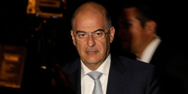 Minister of Public Order and Citizen Protection, Nikolaos Dendias arrives for an urgent cabinet meeting...