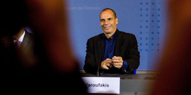 BERLIN, GERMANY - FEBRUARY 05: New Greek Finance Minister Yanis Varoufakis attend a press conference...