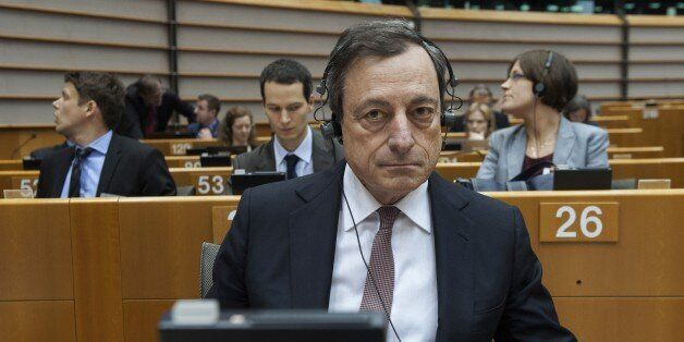 European Central Bank's (ECB) president Mario Draghi attends a debate on ECB's activities at the EU parliament...
