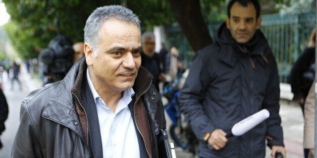 MAXIMOS MANSION, ATHENS, ATTICA, GREECE - 2015/01/27: Panos Skourletis, the new Labour Minister, walks...