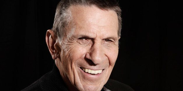 FILE - In this April 26, 2009 file photo, actor Leonard Nimoy poses for a portrait in Beverly Hills,...