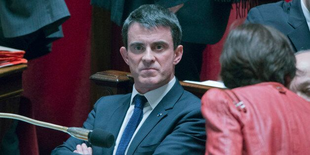 French prime minister Manuel Vals attends a session of the French National Assembly in Paris, Tuesday,...