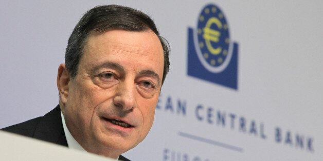 FRANKFURT AM MAIN, GERMANY - JANUARY 22: Mario Draghi, head of the European Central Bank (ECB), arrives...