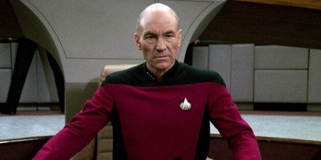 LOS ANGELES - JANUARY 8: Patrick Stewart as Captain Jean-Luc Picard in the STAR TREK: THE NEXT GENERATION...