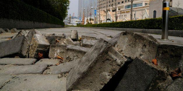 Earthquake damage, Makuhari, Chiba Prefecture, Honshu,