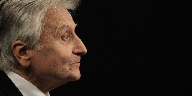 Former president of the European Central Bank (ECB) Jean-Claude Trichet poses while taking part in the...