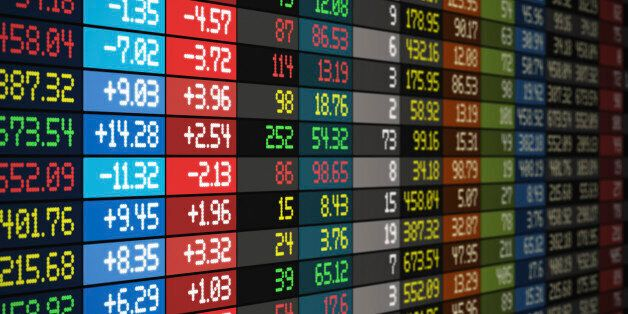 Stock exchange market business concept. See