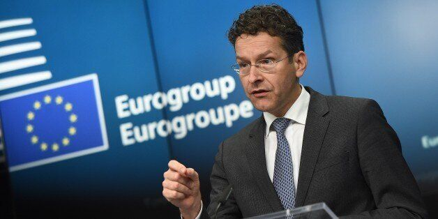 Eurogroup President and Dutch Finance Minister Jeroen Dijsselbloem gives a press conference on February...