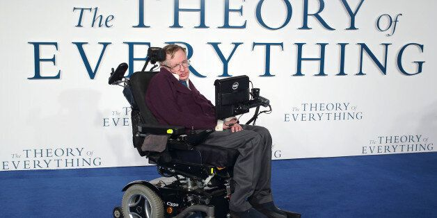 LONDON, ENGLAND - DECEMBER 09: Professor Stephen Hawking attends the UK Premiere of 'The Theory Of Everything'...