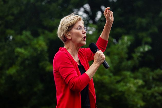 Elizabeth Warren, U.S. Senator and Democratic presidential hopeful, speaks at the Polk County Democrats'...