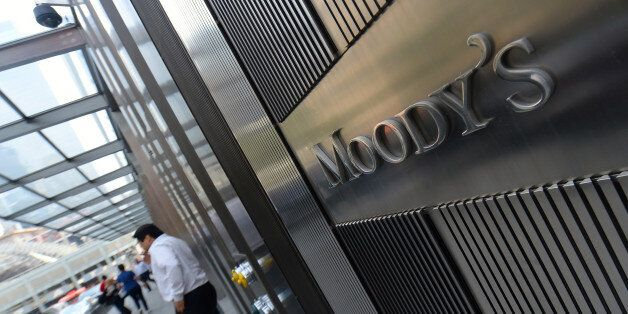 NEW YORK, UNITED STATES - MAY 21: Moody's, leading international credit rating institution, is seen on...