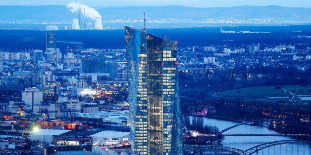 The new headquarters of the European Central Bank is photographed in Frankfurt, Germany, Wednesday, Jan....