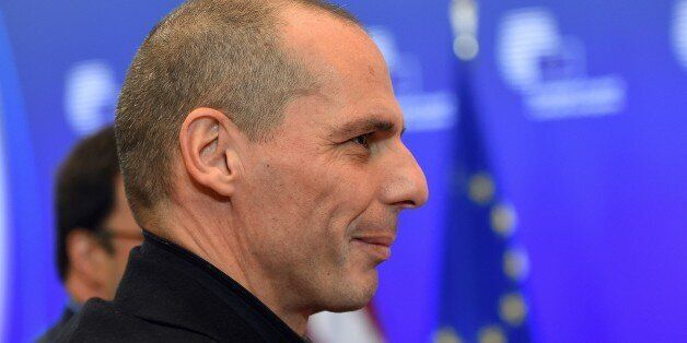 Greece's Finance Minister Yanis Varoufakis arrives to take part in a European economic and financial...