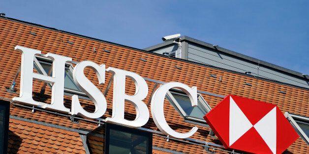 GENEVA, SWITZERLAND - FEBRUARY 09: A HSBC logo is seen on HSBC offices on February 9, 2015 in Geneva,...