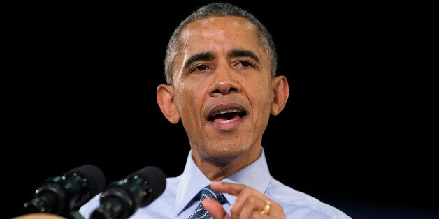 President Barack Obama speaks at Ivy Tech Community College, Friday, Feb. 6, 2015, in Indianapolis. Obama...
