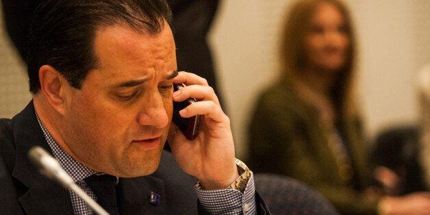 ATHENS, GREECE - 2014/04/29: Adonis Georgiadis, Greek Minister of Health during the EU Informal meeting...